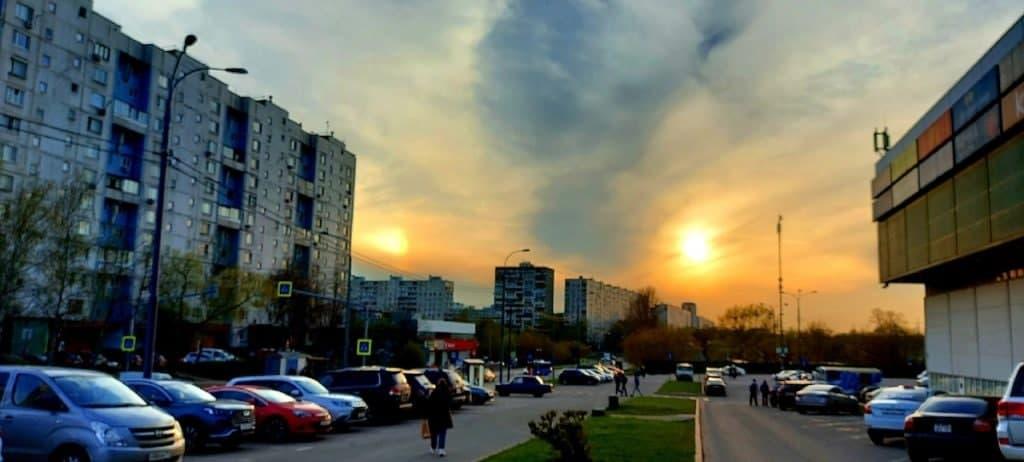 В небе над Корнейчука жители Бибирева увидели гало